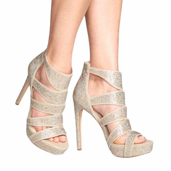 inteligente jalea Nueve  Steve Madden Shoes | Spyceer Stilett Champagne Jewels | Poshmark
